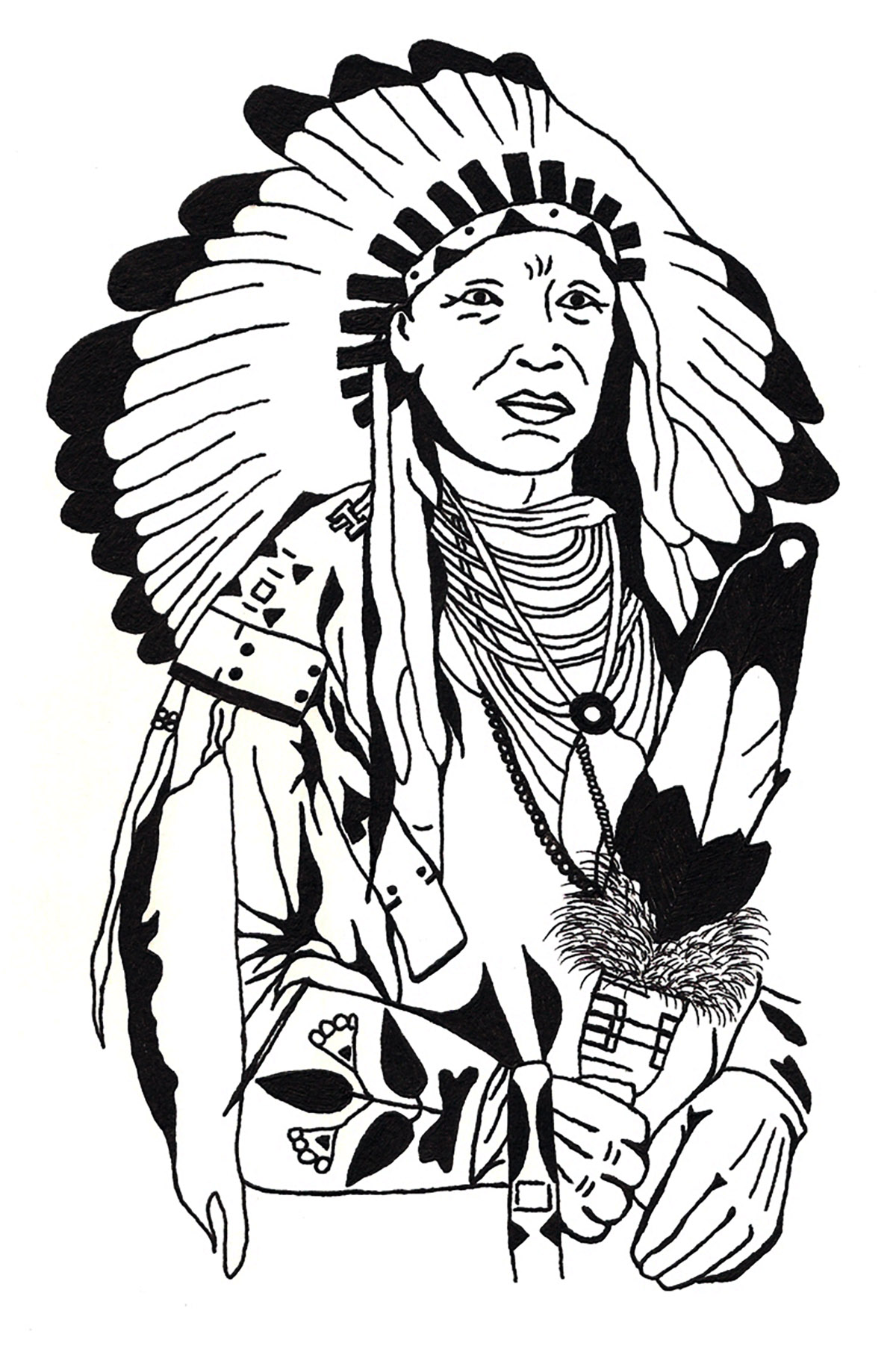 Indian Coloring Pages   Free download on ClipArtMag