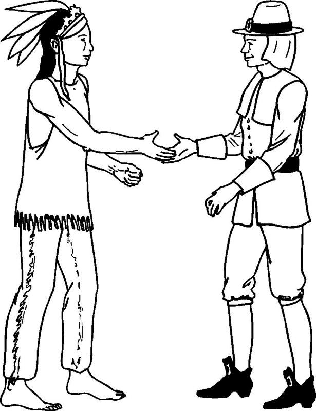 464x794 Indian Coloring Pages 615x800 Native And Pilgrim Color Thanksgiving For Children Teens