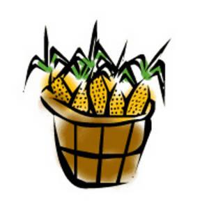 300x300 Basket Clipart Corn