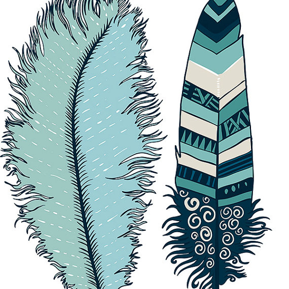 570x570 Navy Blue Feather Clip Art Indian Summer Digital By Fishscraps