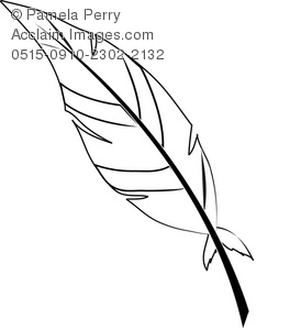 274x300 Art Illustration Of A Black And White Feather