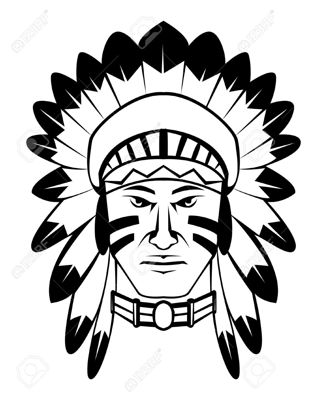 Indian Head Clipart | Free download best Indian Head Clipart