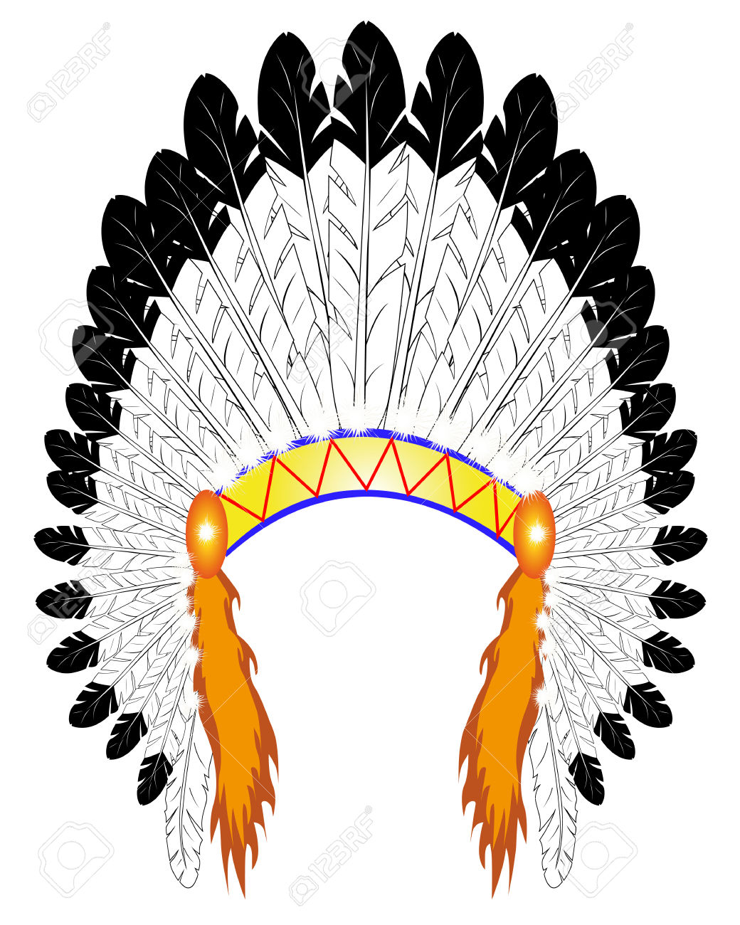 1040x1300 Headdress Clipart Indian Hat