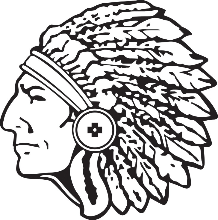 728x737 Indian Head Clip Art