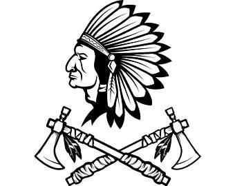 340x270 Indian Skull 1 Native American Warrior Headdress Feather