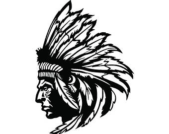 340x270 Indian Chief Clipart Etsy