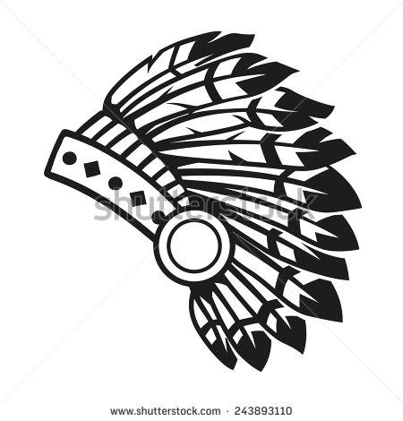 450x470 Aboriginal Clipart Indian Headdress