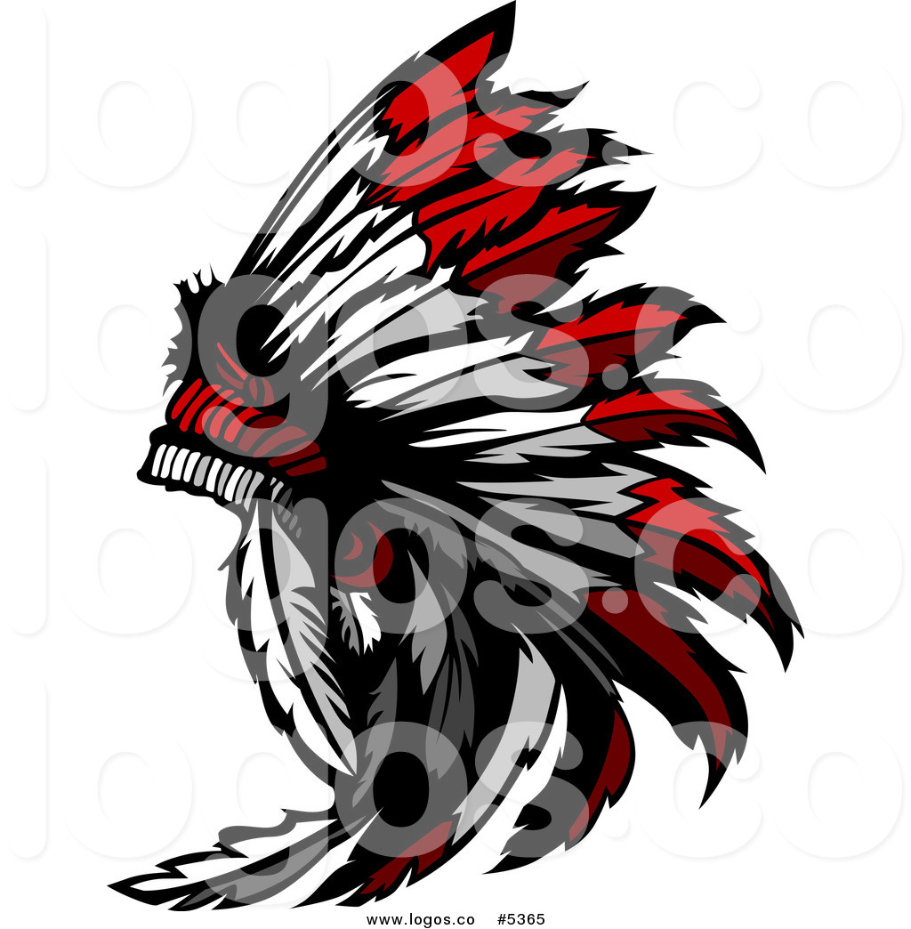 1024x1044 Royalty Free Vector Of A Logo Of A Native American Chief Feather