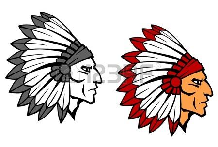 450x304 Vector Cartoon Clip Art Illustration Of An Apache Native American