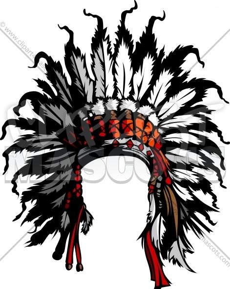 471x590 Vector Indian Headdress Clipart Vector Graphic
