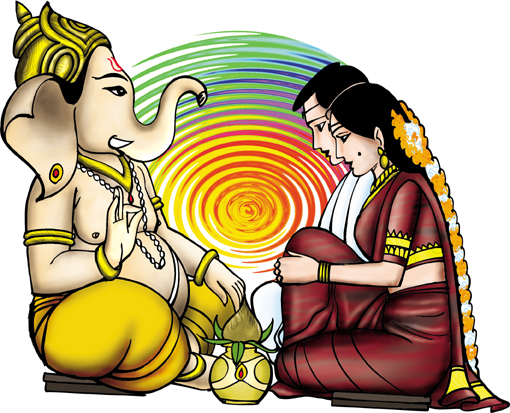 510x413 Gallery Clipart Indian Marriage