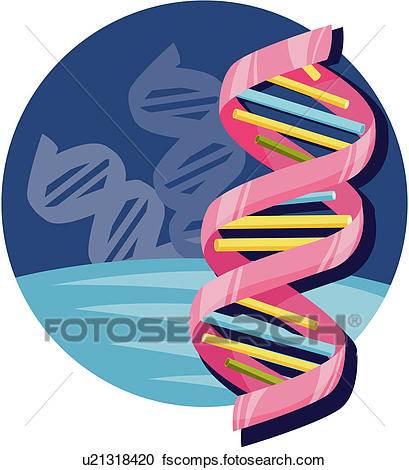 409x470 Clipart Of Bioengineering, Science, Dna, Chromosome, Biology, Hi