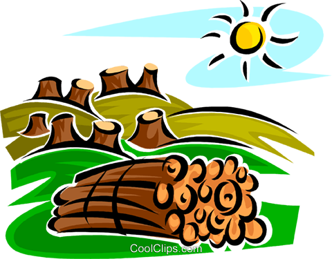 480x375 Forestry And Logging Royalty Free Vector Clip Art Illustration