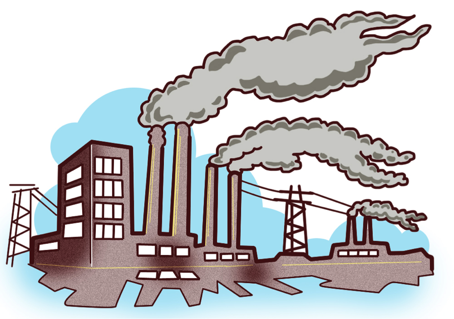 900x633 Industrial Clipart City Pollution