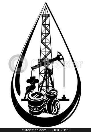 318x464 Oil Tower Clip Art