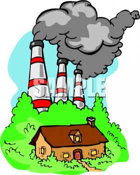 281x350 Royalty Free Clip Art Image Smokestacks From A Factory Belching