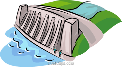 480x266 Hydroelectric Facility, Dam, Industry Royalty Free Vector Clip Art