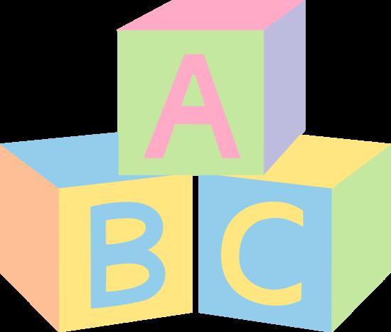 550x468 Pastel Abc Baby Blocks