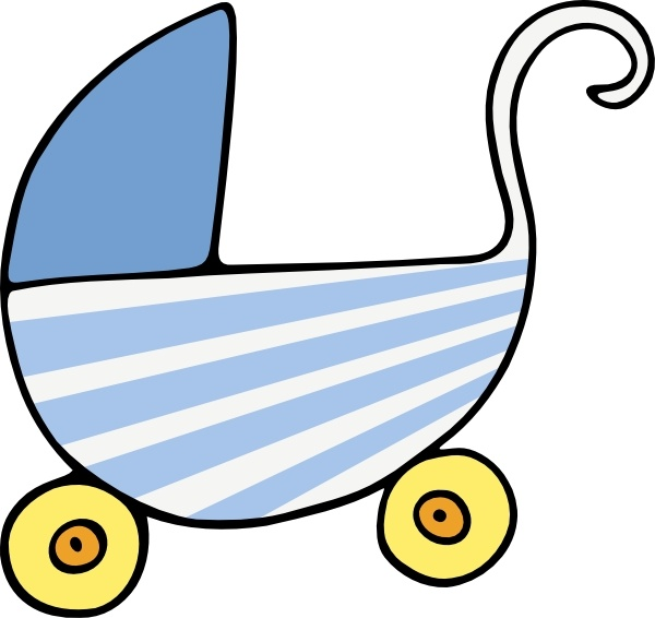 600x566 Baby Stroller Clip Art Free Vector In Open Office Drawing Svg