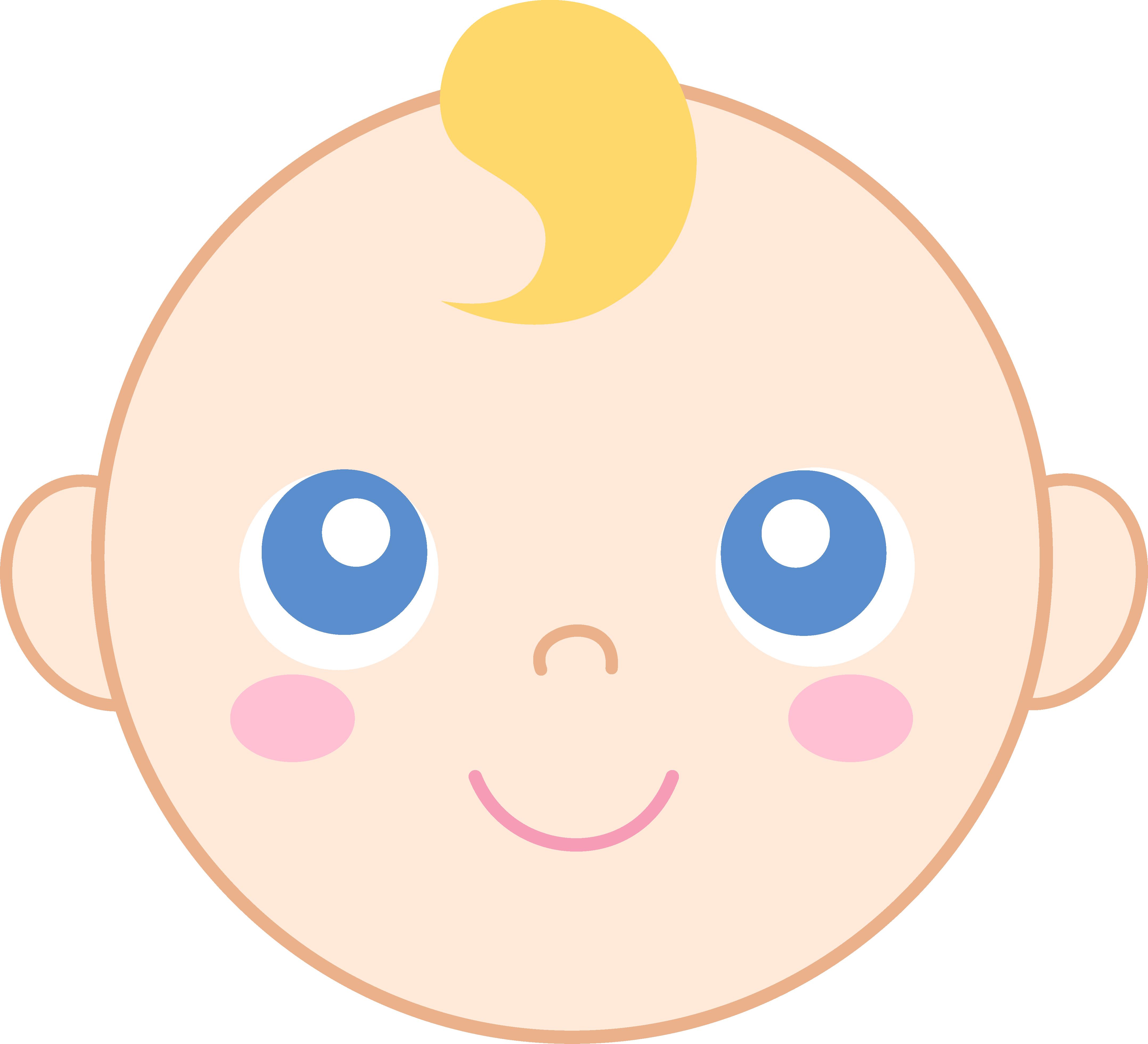 4312x3922 Cute Baby Face Clipart