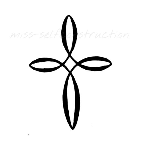 500x500 Infinity Clipart Cross