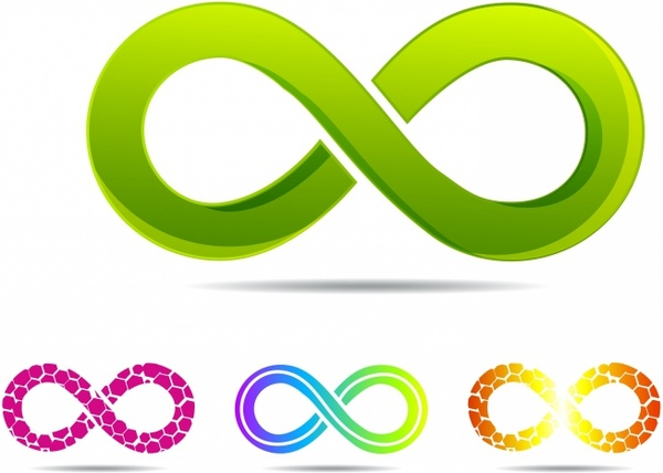 600x428 Sleek Style Infinity Symbols Free Vector In Adobe Illustrator Ai