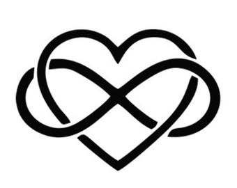340x270 Heart Infinity Svg Dxf File Instant Download Silhouette Cameo