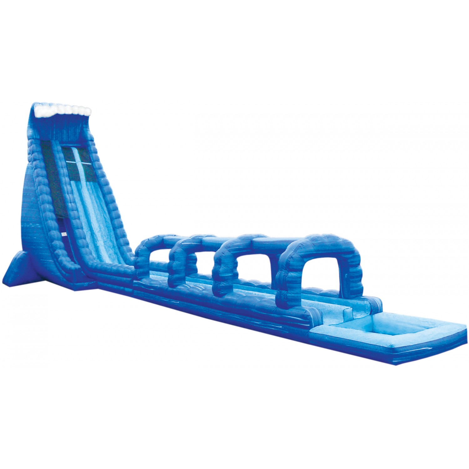 1500x1500 Inflatable Water Slide Blue Crush Lane Run N Splash Combo Free