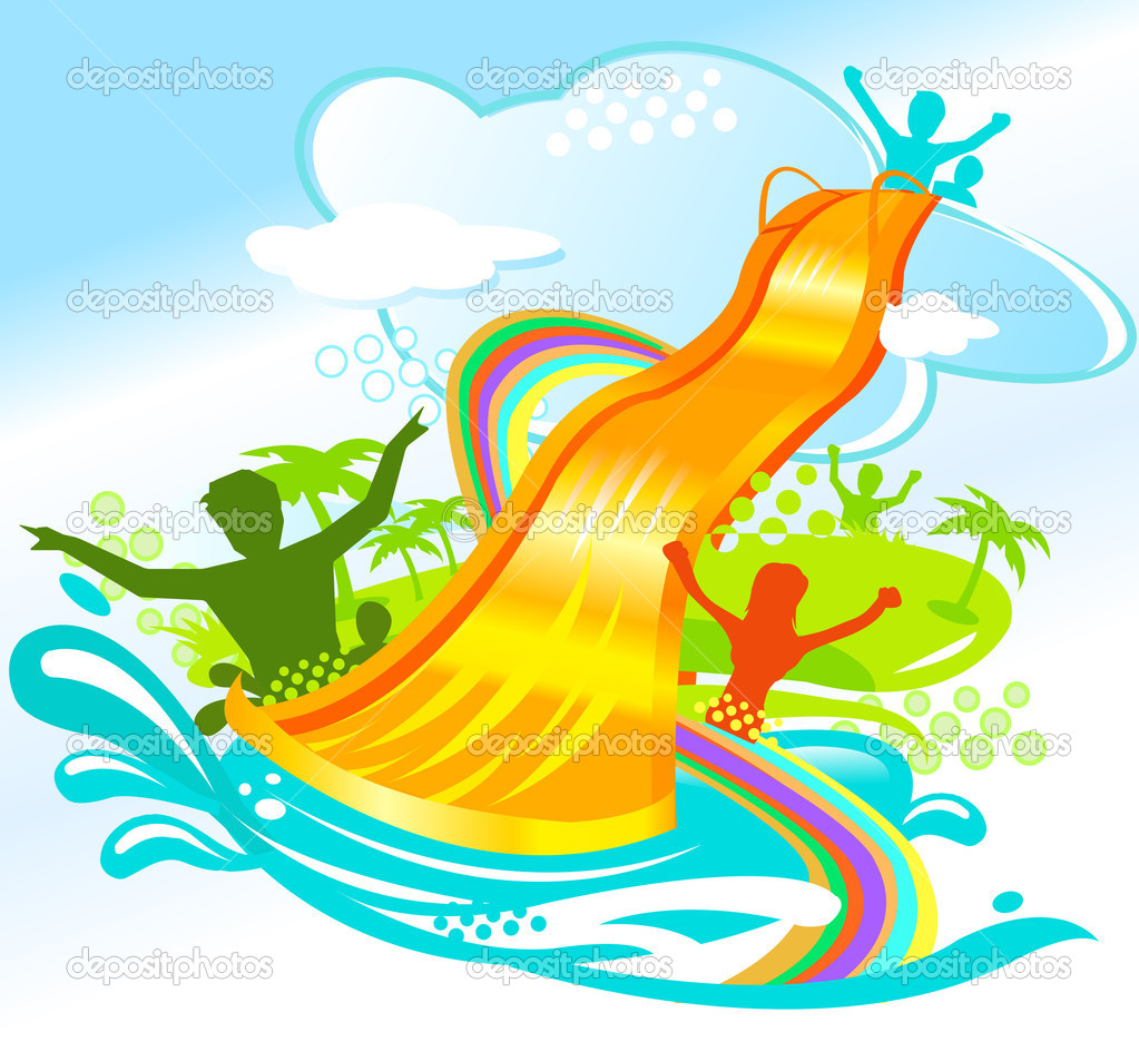 1023x936 Inflatable Water Slide Clipart