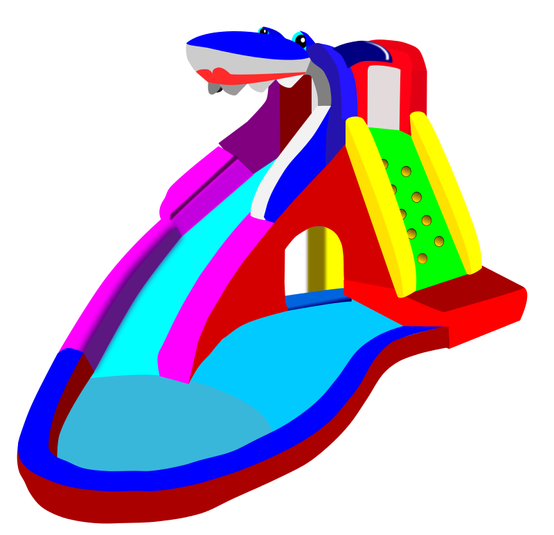 800x773 Inflatable Water Slide Clipart Clipart Panda
