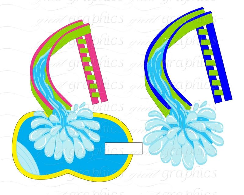 800x640 Pool Slide Clipart