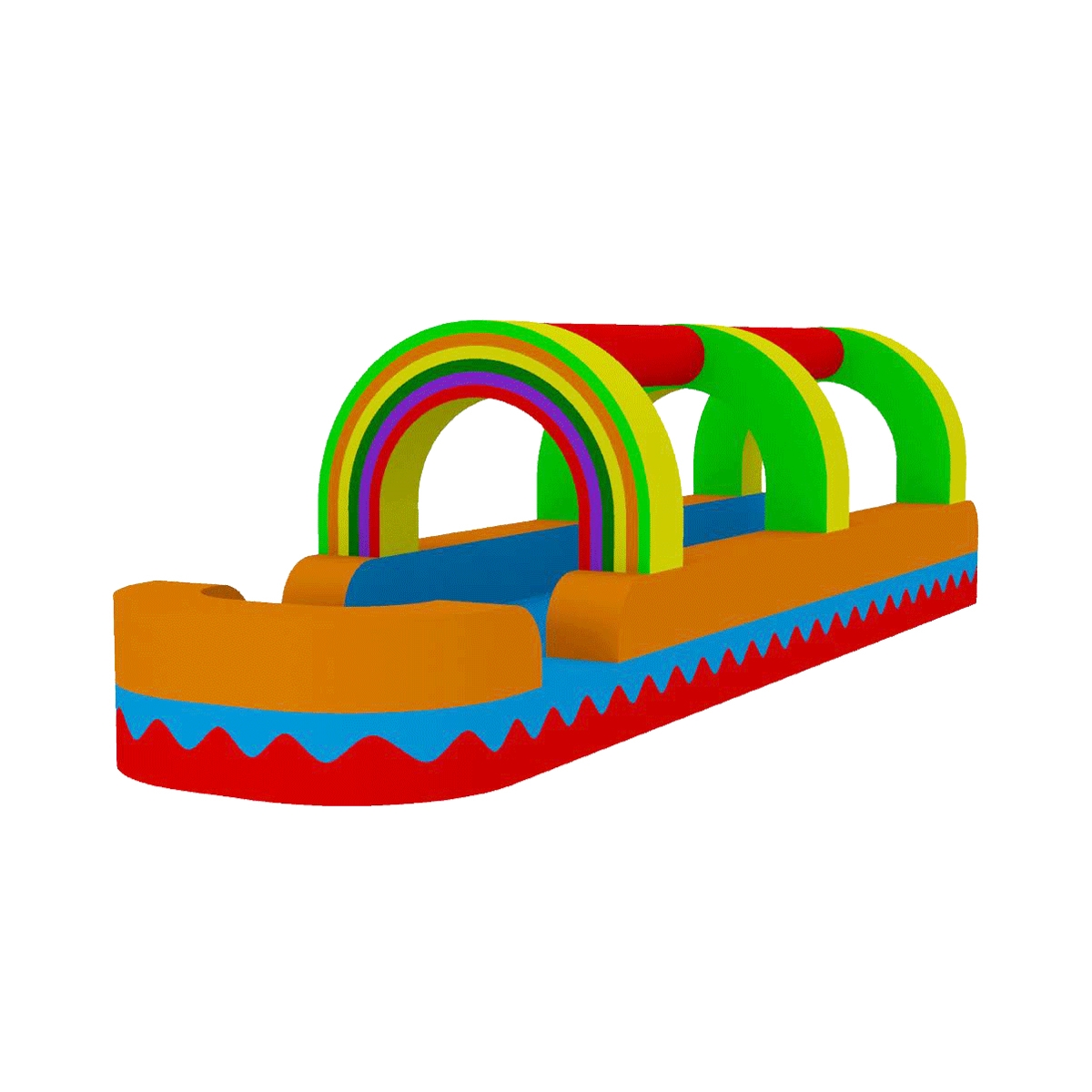 1200x1200 Water Slide Rainbow Bouncer Jumper Bounce House Castle Water