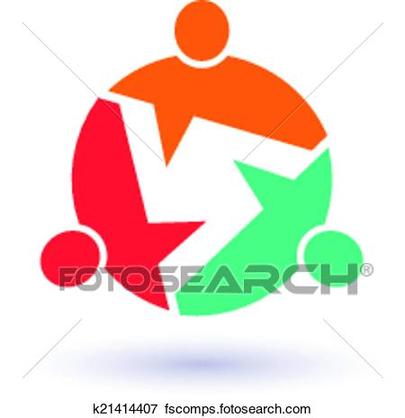450x464 Clip Art Teamwork Call Out 3 People Image. Concept