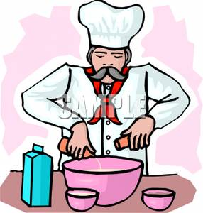 286x300 Chef Pouring Ingredients Into A Bowl Clipart Picture