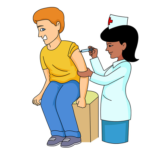 550x508 Graphics For Nurse Giving Injection Graphics