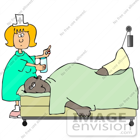 450x450 Clip Art Graphic Of A White Female Nurse Blond Hair Giving Water