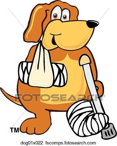 376x470 Clipart Of Dog Injured Dog01x022