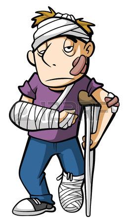 259x450 Head And Hand Injury Man Cartoon Character Royalty Free Cliparts