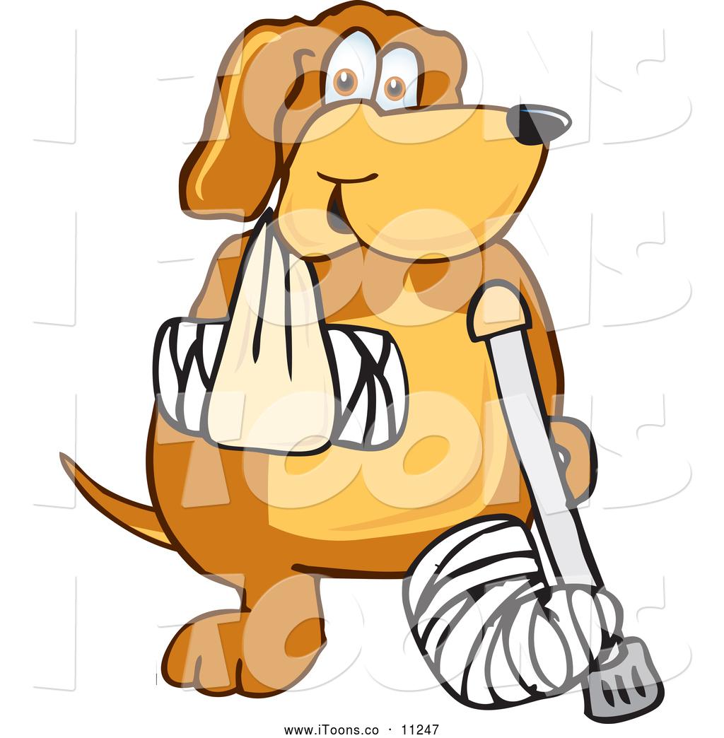 1024x1044 Vector Clip Art Of A Brown Dog Mascot Cartoon Character