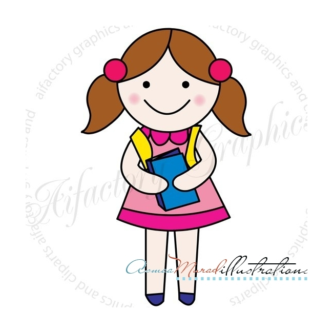 650x650 A Clipart Of A Girl