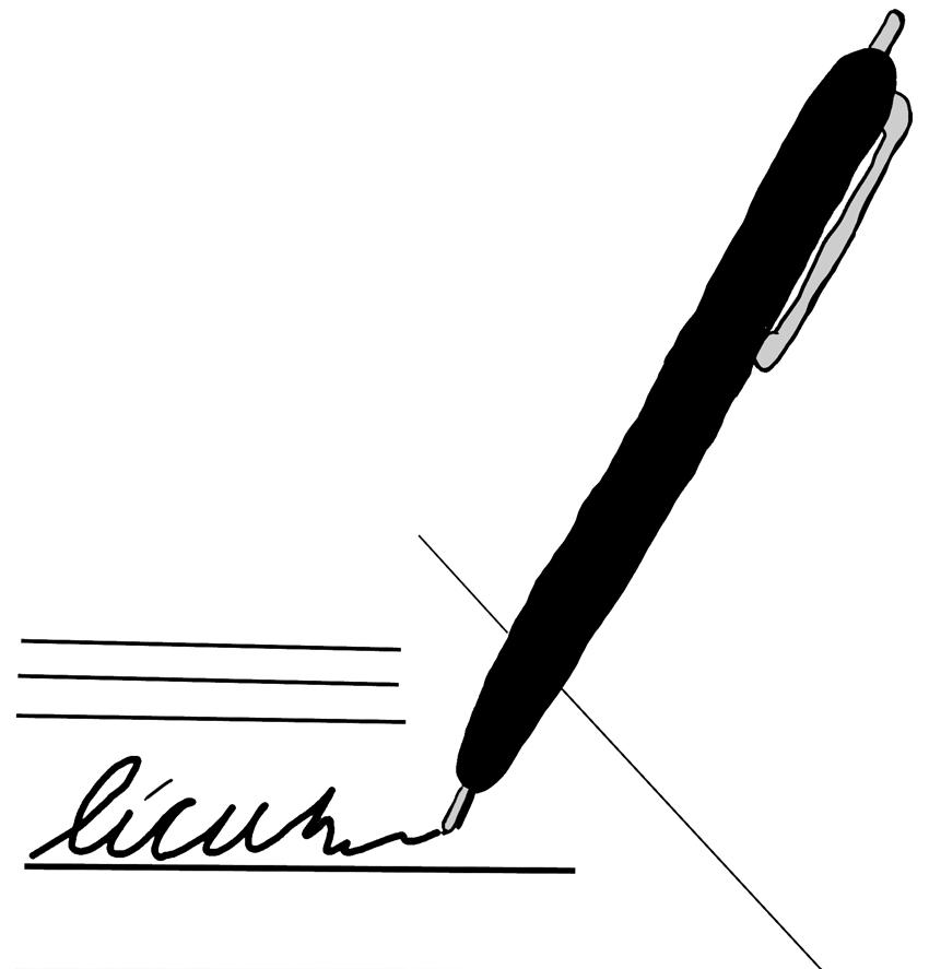 850x887 Ink Clipart Autograph