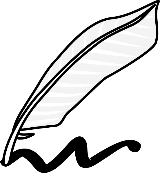 552x595 Ink Clipart Feather Pen