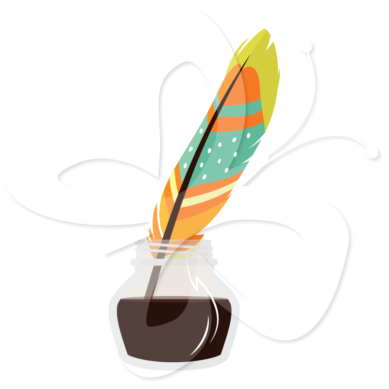 801x800 Ink clipart quill