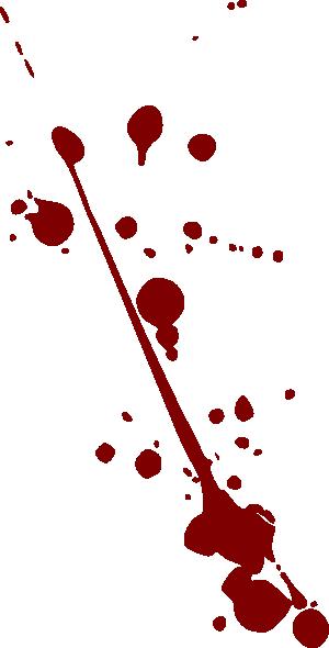 300x590 Blood Splatter Clip Art
