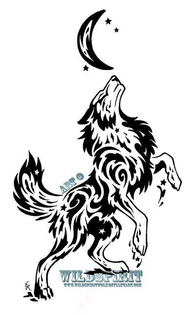 400x646 Starry Splatter Wolf Tribal Design By Wildspiritwolf