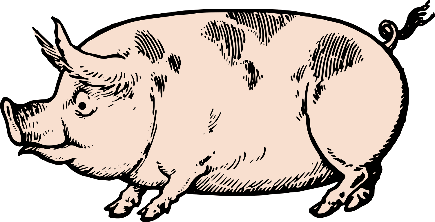 1500x766 Cute Vintage Pig Clip Art Amp Stock Vector Oh So Nifty Vintage