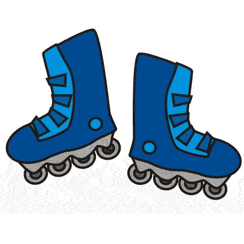 500x500 Image Result For Simple Inline Skates Clipart Cake Decorating