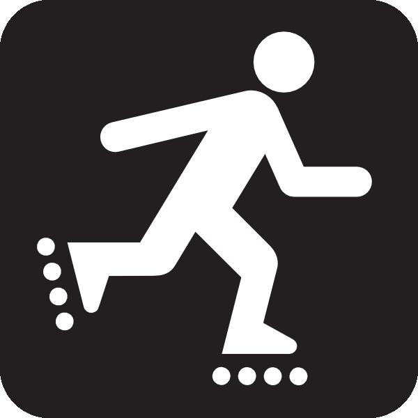 600x600 Inline Skating Icon Clip Art