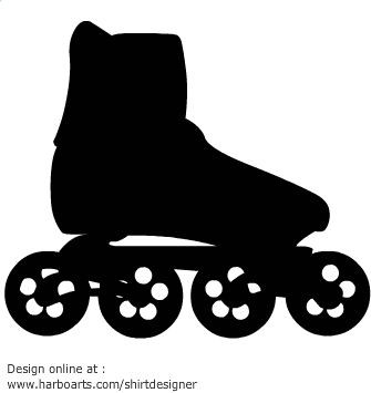 335x355 Inline Skates Clipart