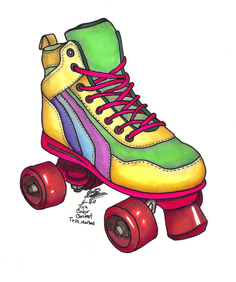 818x977 80s Roller Skates Clipart